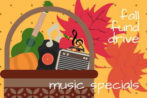 2019 Fall Drive Music Specials